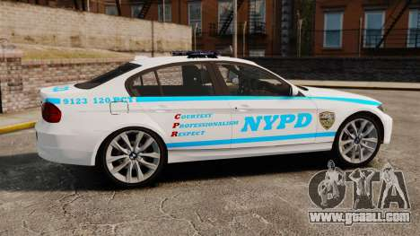 BMW 350i NYPD [ELS] for GTA 4 left view