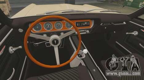 Pontiac GTO 1965 for GTA 4 inner view