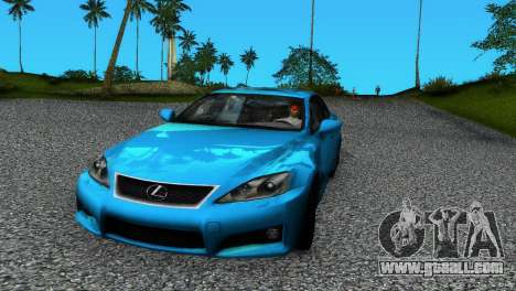 Lexus IS-F for GTA Vice City
