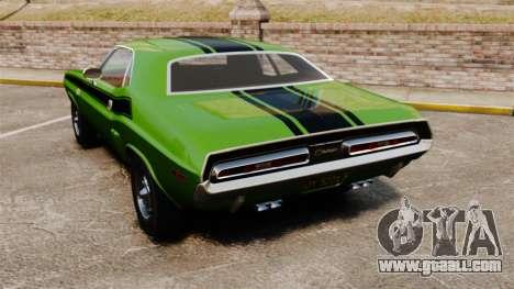 Dodge Challenger 1971 v2 for GTA 4 back left view