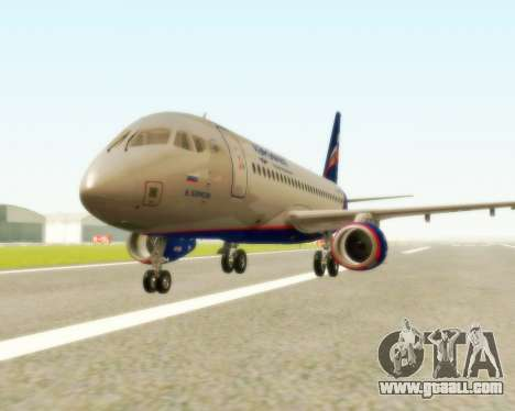 Sukhoi Superjet 100-95 Aeroflot for GTA San Andreas