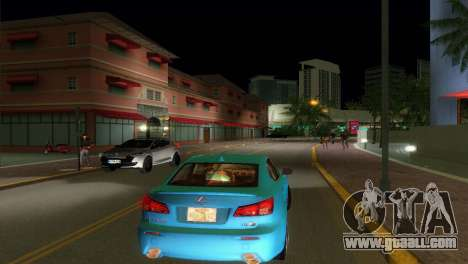 Lexus IS-F for GTA Vice City right view