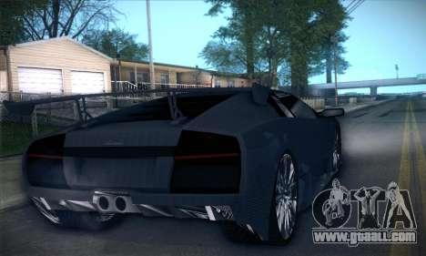 Lamborghini Murcielago GT Carbone for GTA San Andreas bottom view