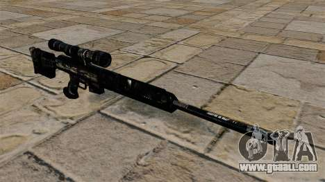 Sniper rifle in dark blue camouflage uniforms for GTA 4