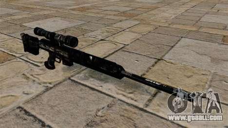 Sniper rifle in dark blue camouflage uniforms for GTA 4