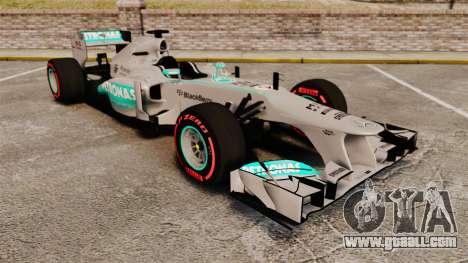 Mercedes AMG F1 W04 v6 for GTA 4