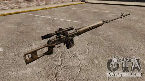 Dragunov sniper rifle v2 for GTA 4 second screenshot