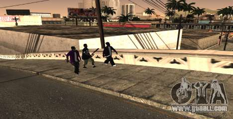 HQ SkinPack Ballas for GTA San Andreas second screenshot