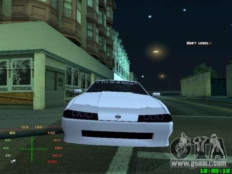 Elegy TDK-The Drift Kings for GTA San Andreas back left view
