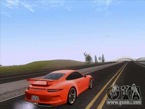Porsche 911 GT3 2014 for GTA San Andreas back left view