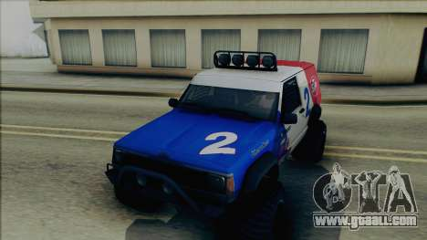 Jeep Cherokee 1984 Sandking for GTA San Andreas side view