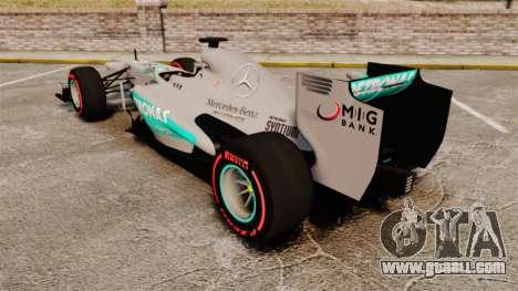 Mercedes AMG F1 W04 v6 for GTA 4 back left view