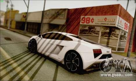 Lamborghini Gallardo LP560-4 2013 for GTA San Andreas left view