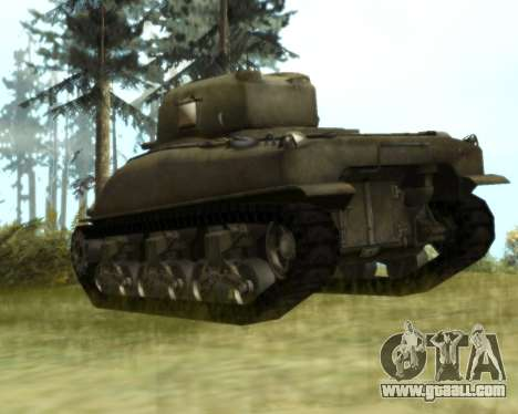 M4 Sherman for GTA San Andreas right view