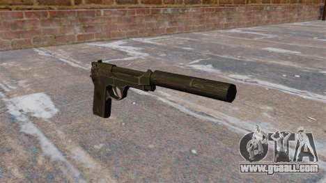 M9 self-loading pistol with silencer for GTA 4