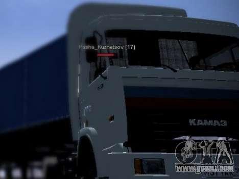 KAMAZ 54115 for GTA San Andreas left view