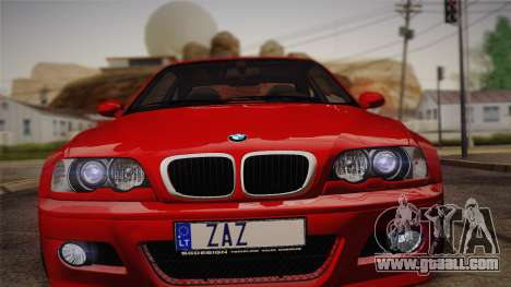 BMW E46 M3 Coupe for GTA San Andreas back left view