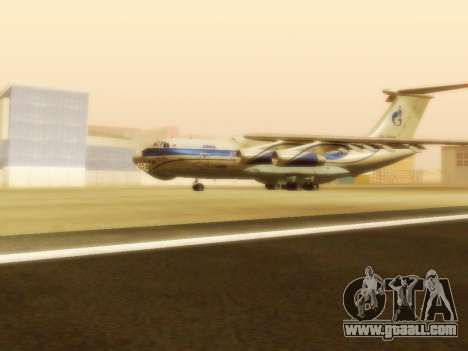 Il-76td Gazpromavia for GTA San Andreas left view