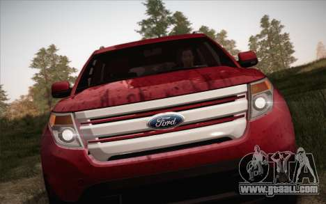 Ford Explorer 2013 for GTA San Andreas right view