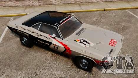 Dodge Challenger 1971 v2 for GTA 4 bottom view