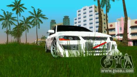 Mitsubishi Lancer Evolution VIII Type 8 for GTA Vice City back view