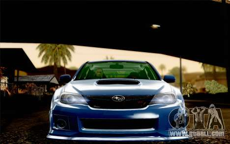 Subaru Impreza WRX STi 2011 for GTA San Andreas inner view