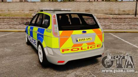 Ford Focus Estate Norfolk Constabulary [ELS] for GTA 4 back left view