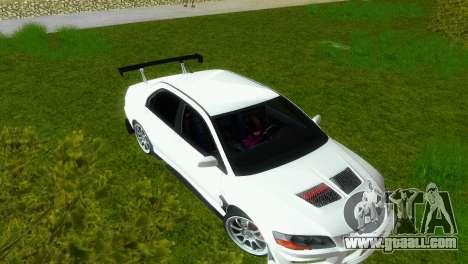Mitsubishi Lancer Evolution VIII Type 8 for GTA Vice City inner view
