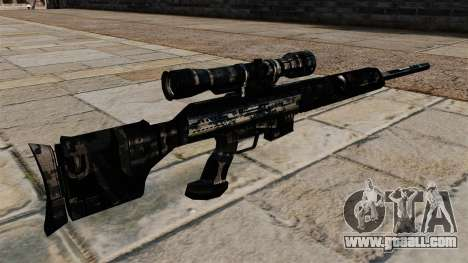 Sniper rifle in dark blue camouflage uniforms for GTA 4 second screenshot