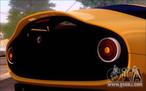 Alfa Romeo TZ3 2011 for GTA San Andreas back left view
