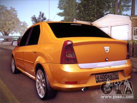Dacia Logan GrayEdit for GTA San Andreas back view