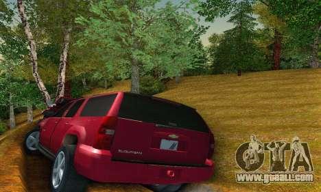 Chevrolet Suburban 2008 for GTA San Andreas right view