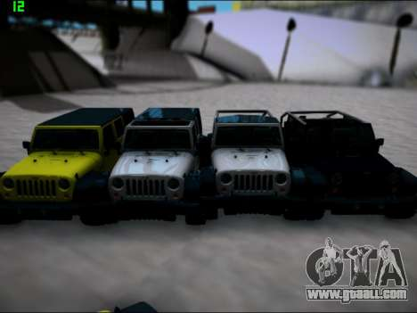 Jeep Wrangler Unlimited 2007 for GTA San Andreas back left view