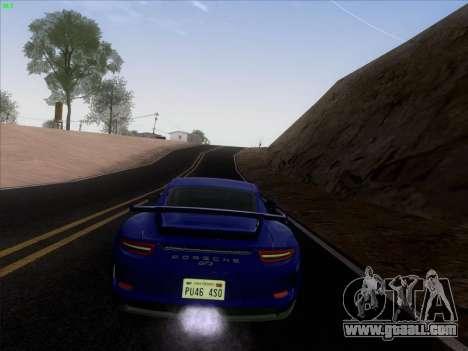 Porsche 911 GT3 2014 for GTA San Andreas inner view