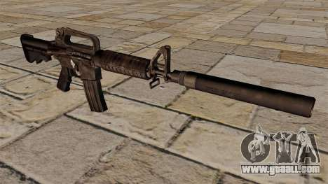 SMG M4 carbine with silencer for GTA 4