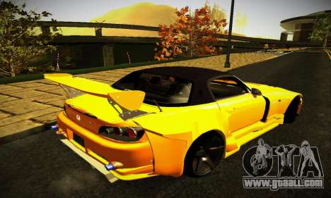 Honda S2000 Amuse GT1 for GTA San Andreas back left view