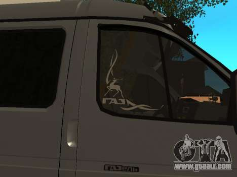 33023 Gazelle Business for GTA San Andreas back view