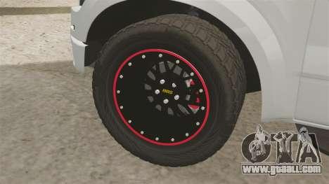 Ford SVT Raptor 2012 for GTA 4 back view