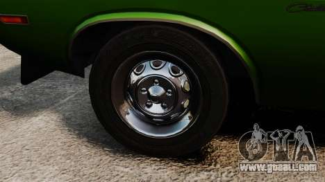 Dodge Challenger 1971 v2 for GTA 4 back view
