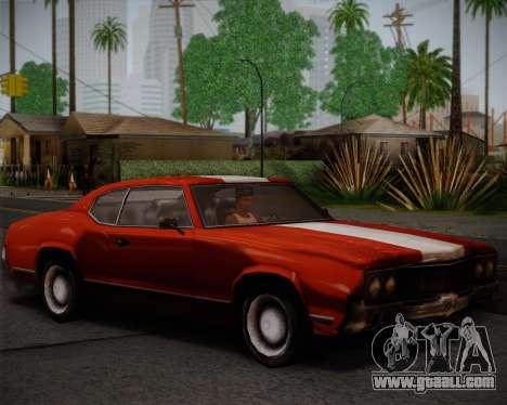 Sabre Turbo for GTA San Andreas back view