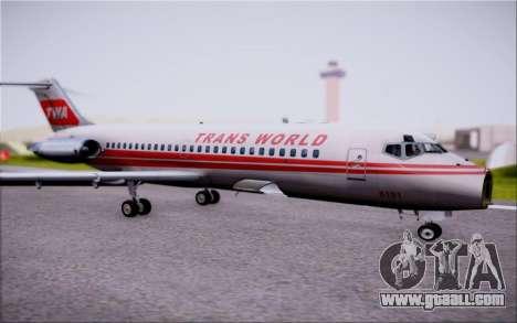 McDonnel Douglas DC-9-10 for GTA San Andreas upper view