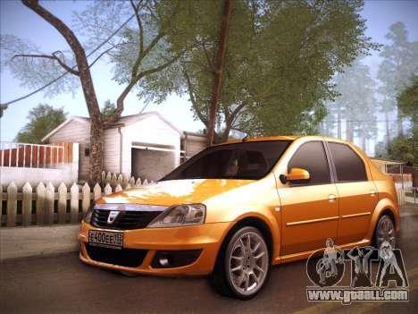 Dacia Logan GrayEdit for GTA San Andreas inner view