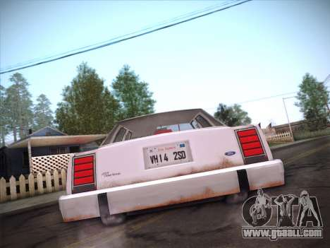 Ford LTD Crown Victoria 1985 for GTA San Andreas bottom view