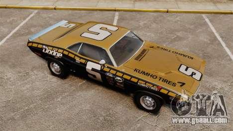 Dodge Challenger 1971 v1 for GTA 4 upper view