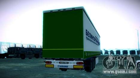 The trailer Krone for Volvo FH16 for GTA San Andreas back left view