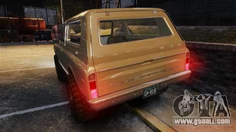 Chevrolet Blazer K5 1972 for GTA 4 engine
