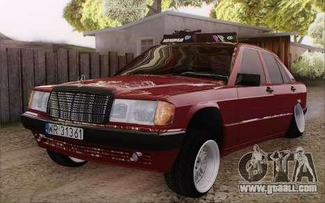 Mercedes-Benz 190E for GTA San Andreas