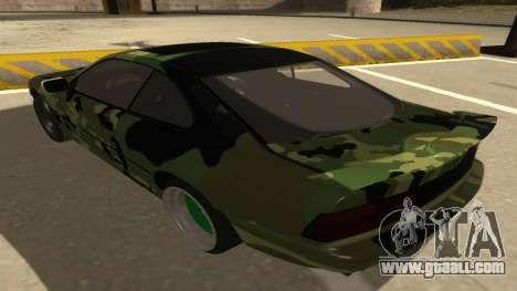 BMW 850CSi 1996 Military Version for GTA San Andreas back view