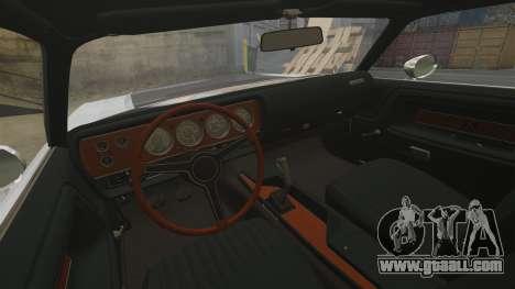 Dodge Challenger 1971 v1 for GTA 4 inner view