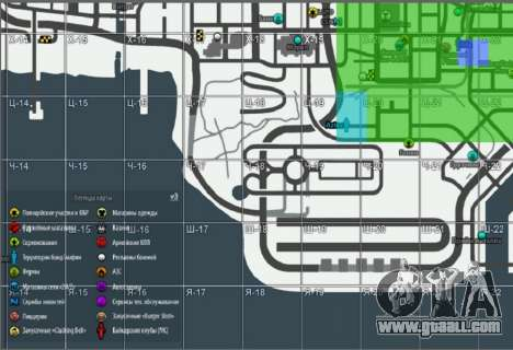 Map with Winter Edition [Samp-Rp] for GTA San Andreas